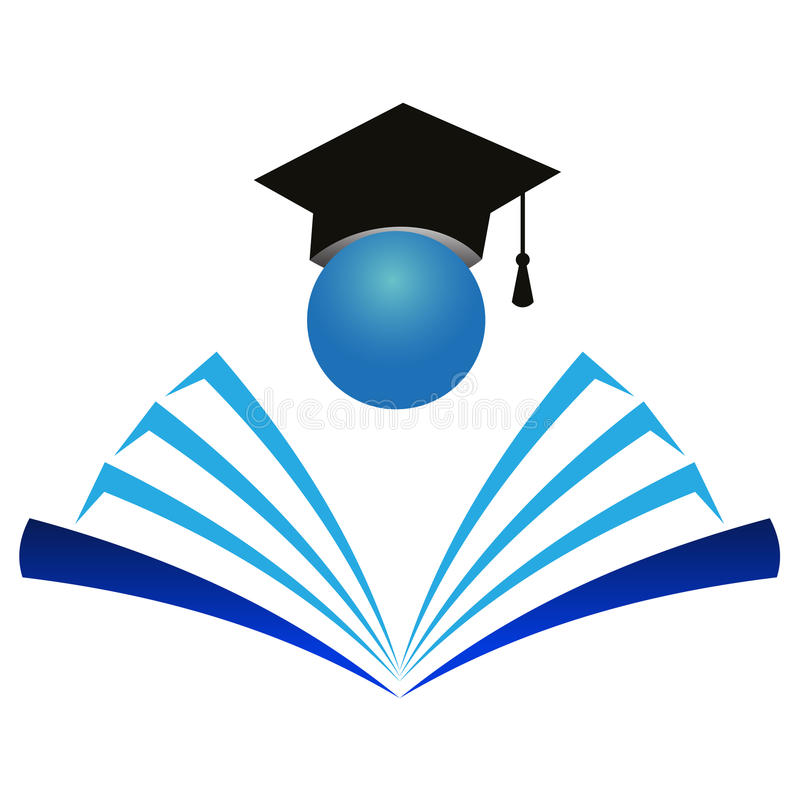 Insignia de la educación stock de ilustración