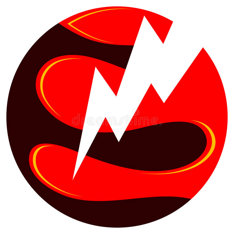 Insignia de la energía eléctrica ilustración del vector