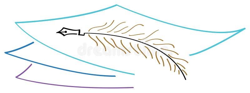 Insignia de la escritura ilustración del vector
