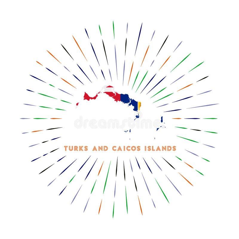 Insignia De La Bandera De Turks And Caicos Islands Ilustracion Del