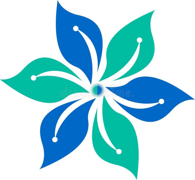 Insignia de la flor ilustración del vector