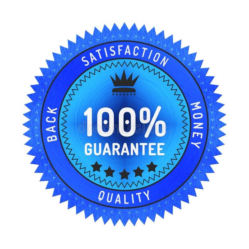 Insignia de la garantía de calidad aislada en blanco libre illustration