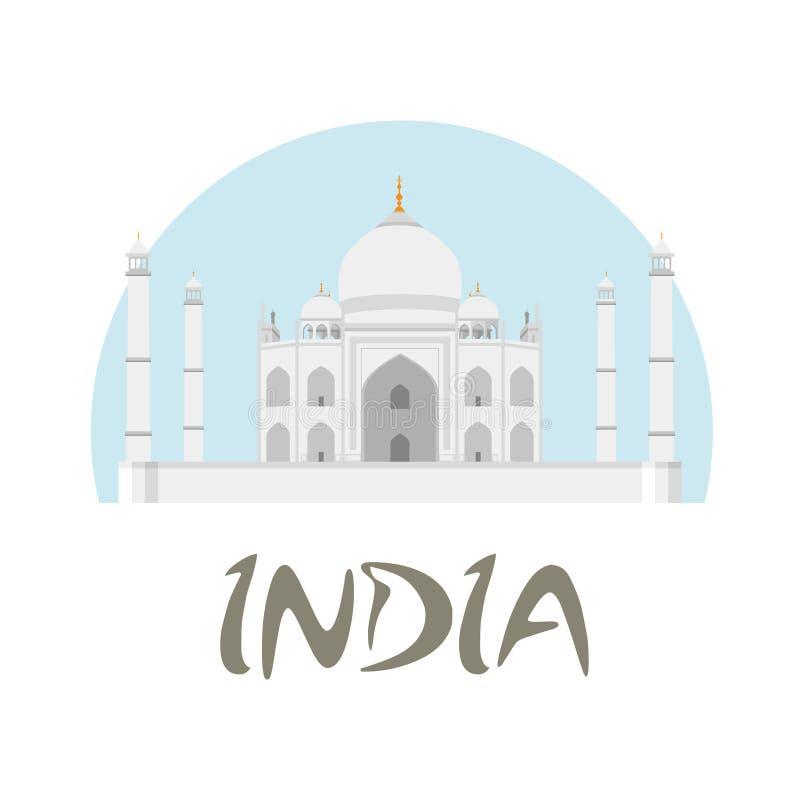 Insignia de la India del viaje ilustración mahal del taj libre illustration