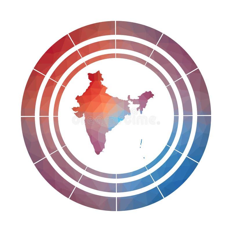 Insignia de la India ilustración del vector