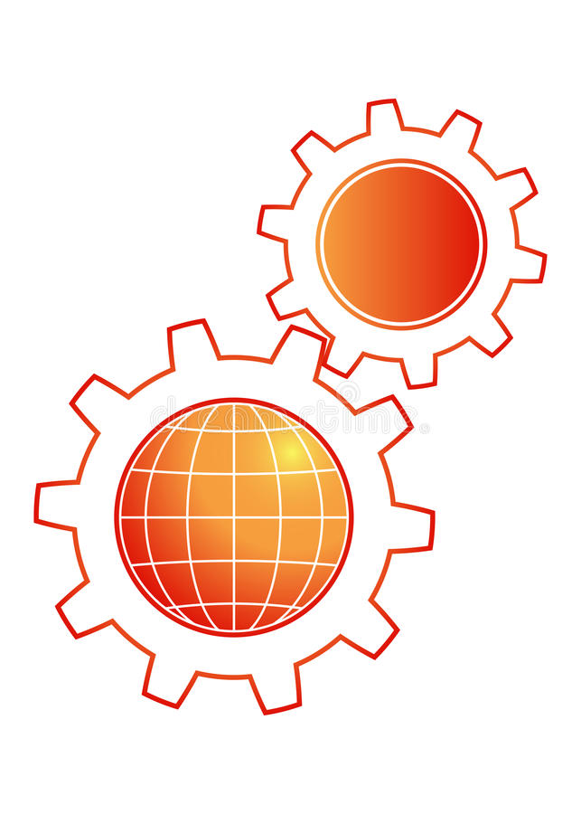 Insignia de la industria ilustración del vector