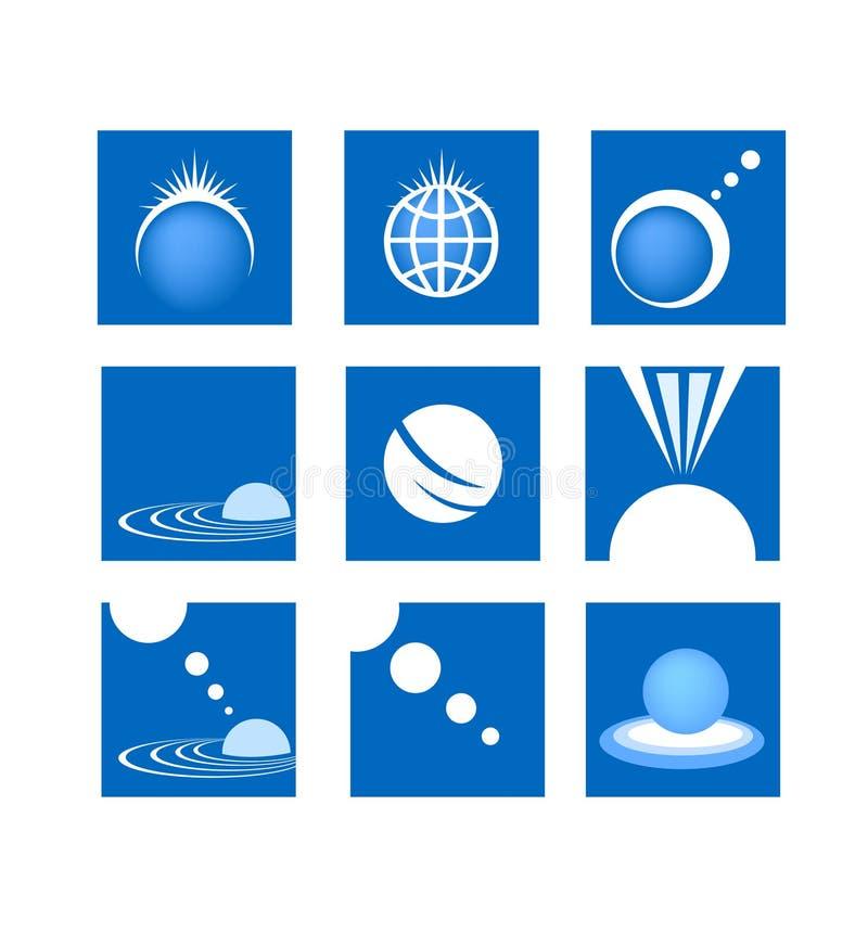 Insignia de la industria del Web de la red global ilustración del vector