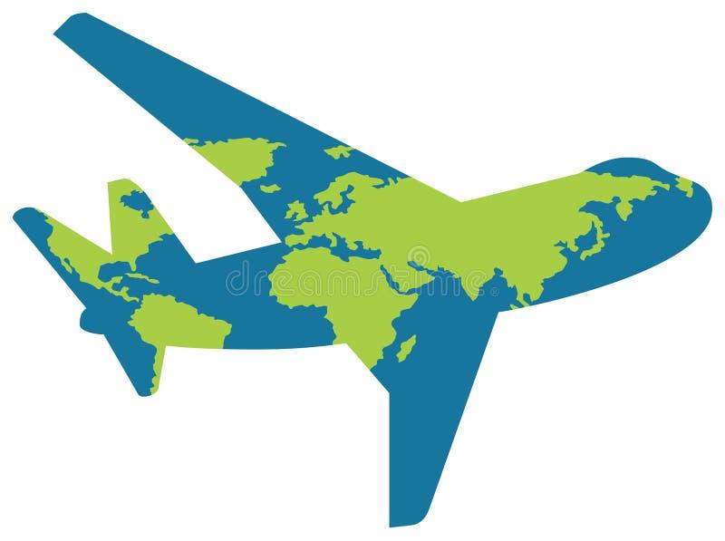 Insignia de la línea aérea stock de ilustración