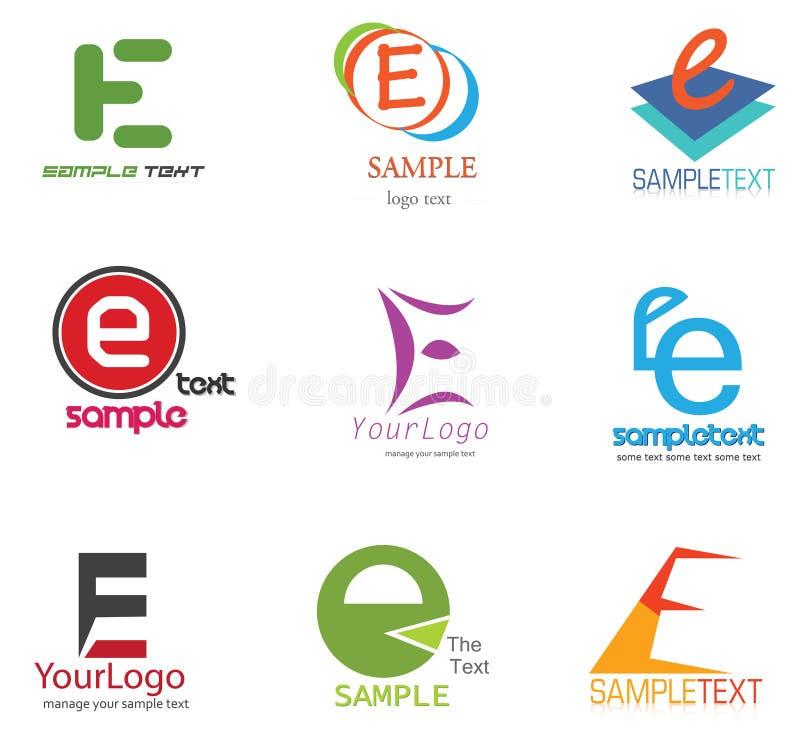 Insignia de la letra E stock de ilustración