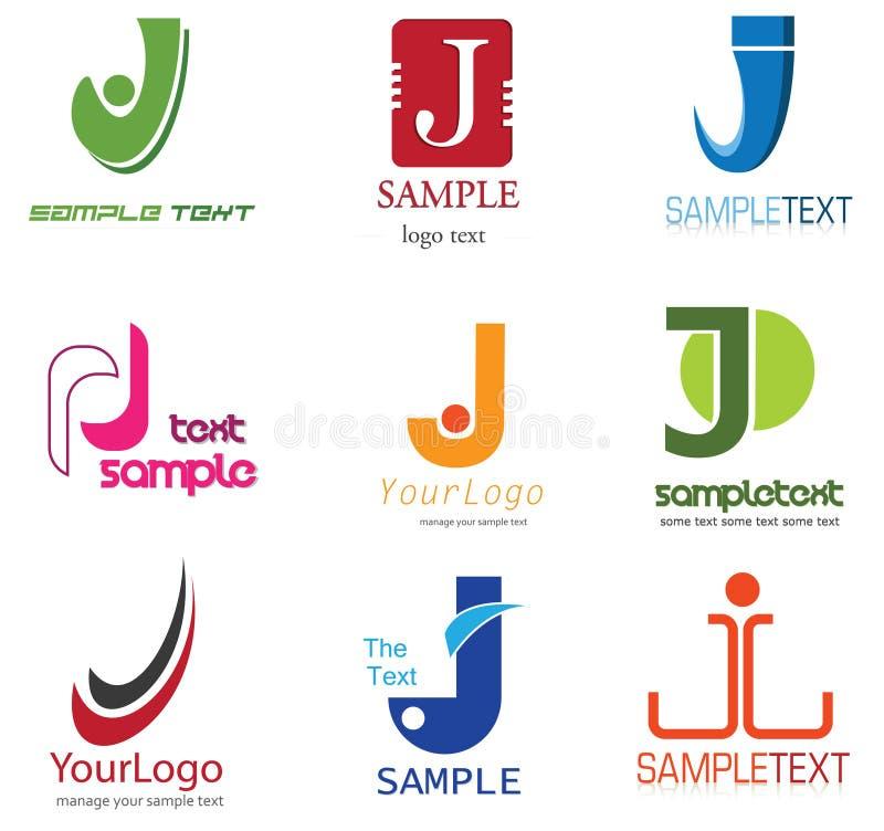 Insignia de la letra J stock de ilustración