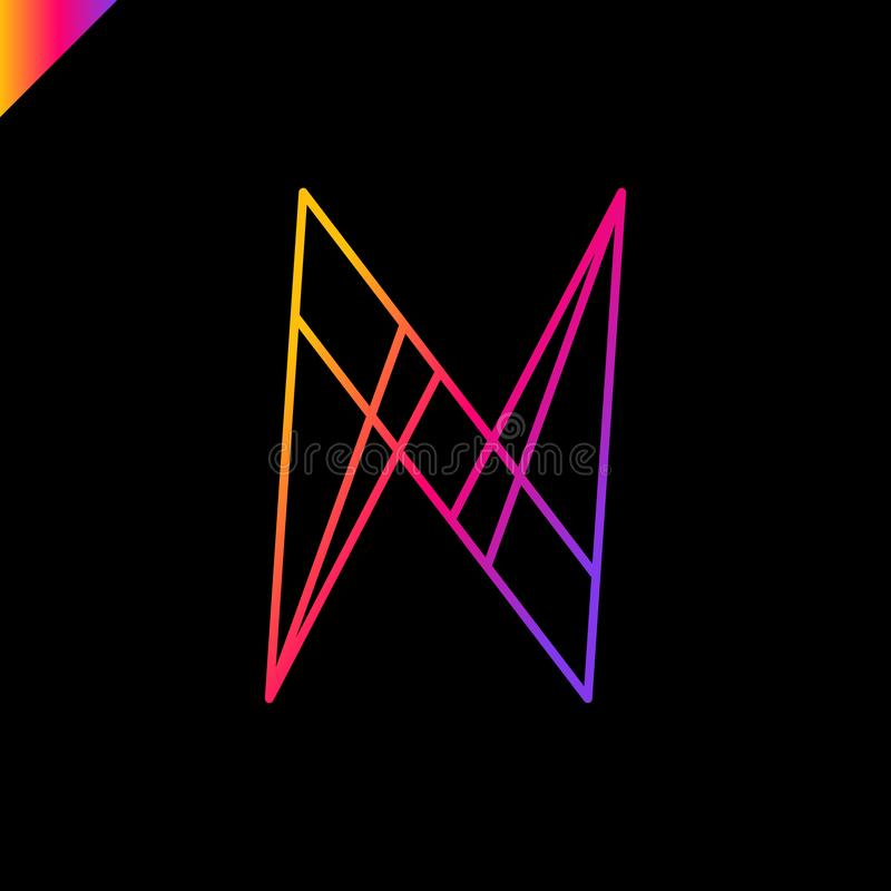 Insignia de la letra N stock de ilustración