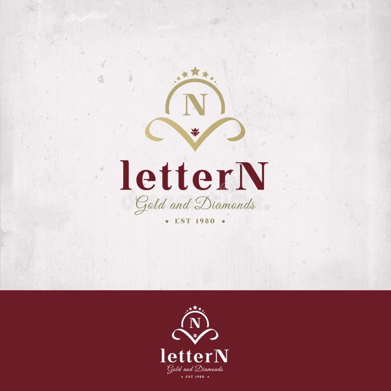Insignia de la letra N imagen de archivo libre de regalías