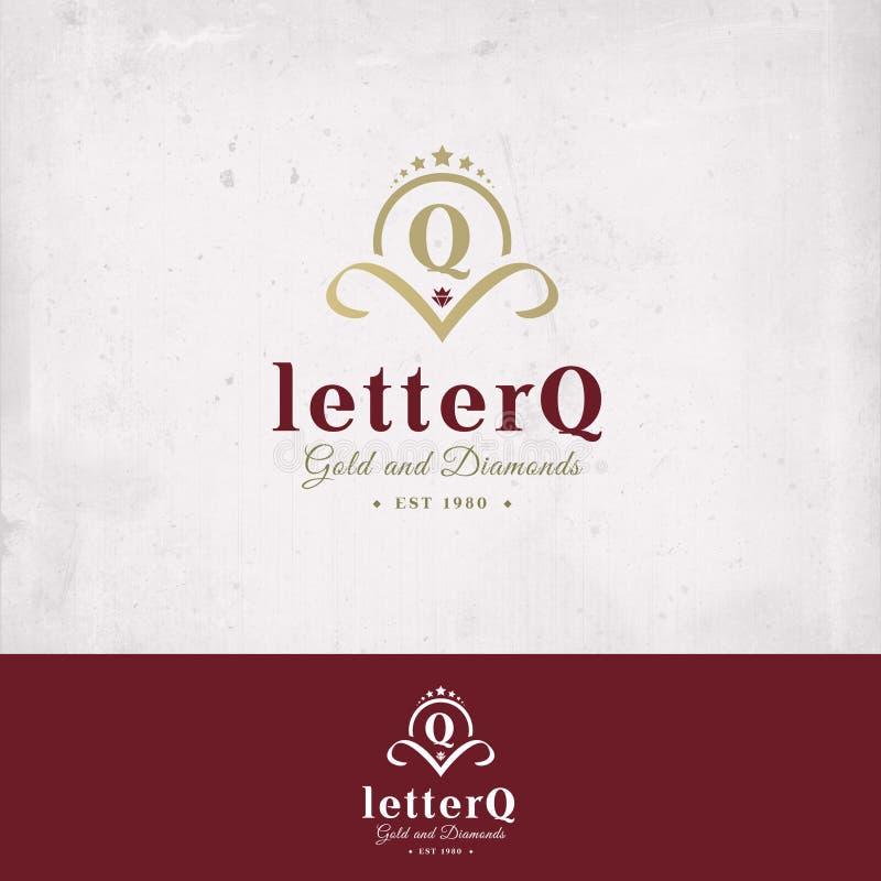 Insignia de la letra Q foto de archivo libre de regalías