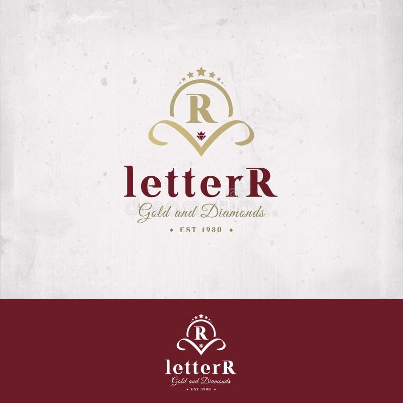 Insignia de la letra R fotos de archivo
