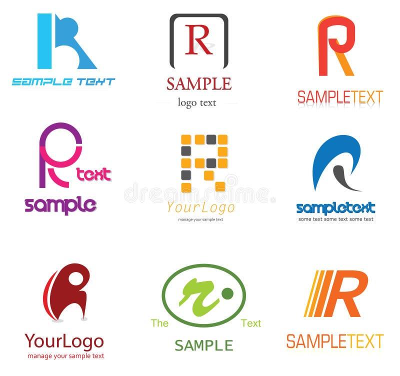 Insignia de la letra R ilustración del vector