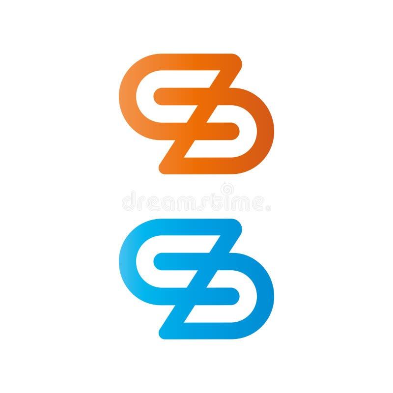 Insignia de la letra S Elemento del dise?o del vector para el negocio stock de ilustración