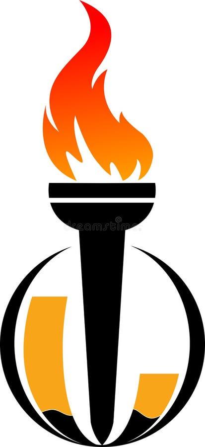 Insignia de la llama stock de ilustración