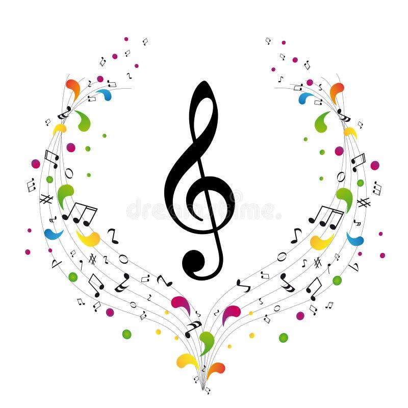 Insignia de la música - clef agudo stock de ilustración
