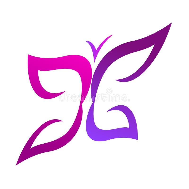 Insignia de la mariposa ilustración del vector