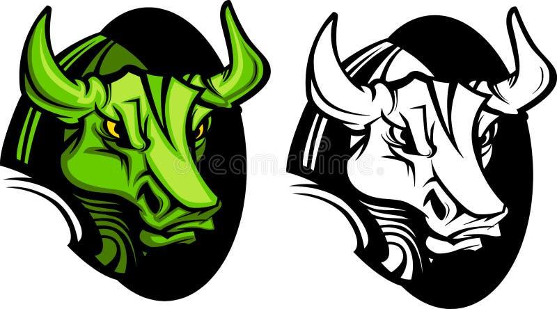 Insignia de la mascota de Bull stock de ilustración
