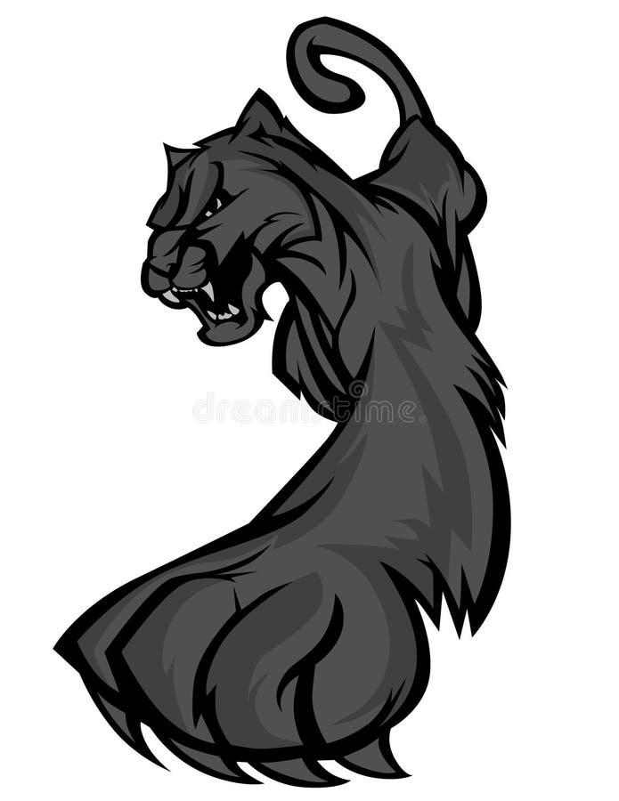 Insignia de la mascota de la pantera libre illustration