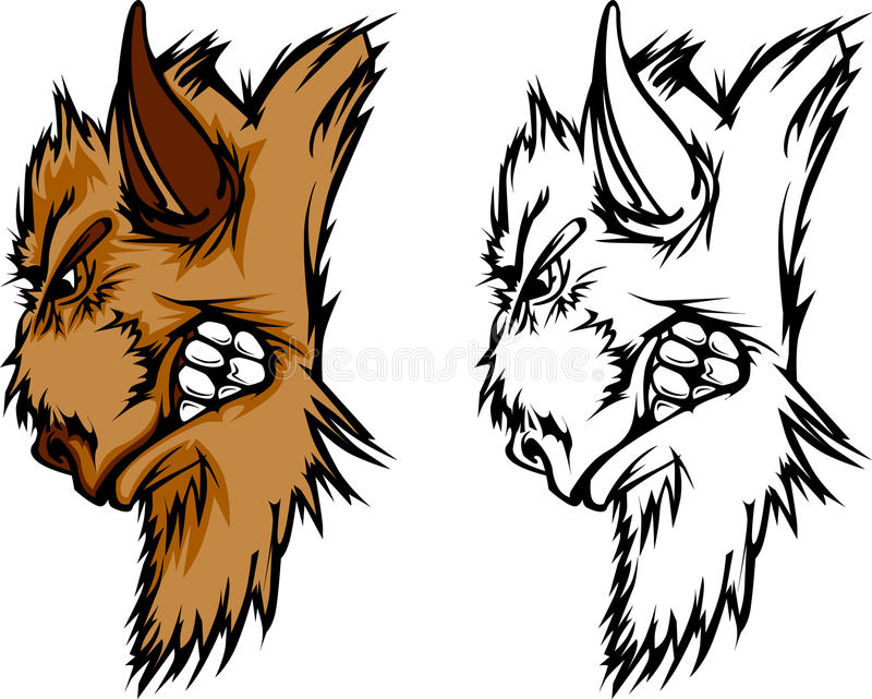 Insignia de la mascota del búfalo libre illustration