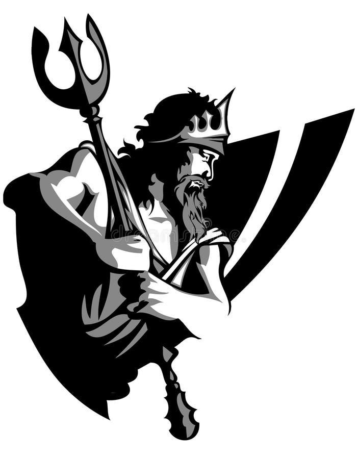 Insignia de la mascota del titán stock de ilustración