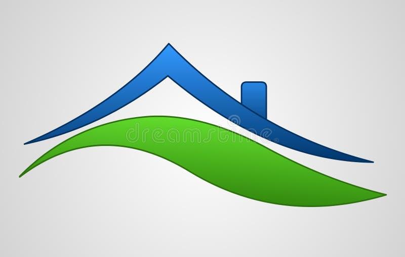 Insignia de la muestra de la casa ilustración del vector