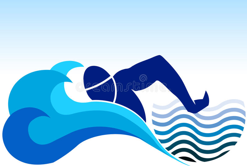 Insignia de la natación libre illustration