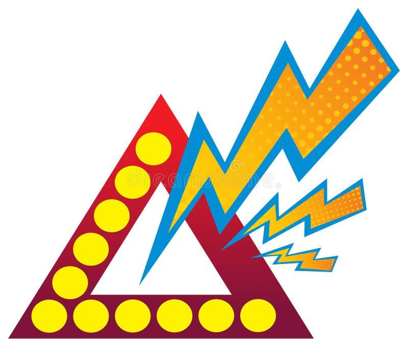 Insignia de la potencia ilustración del vector