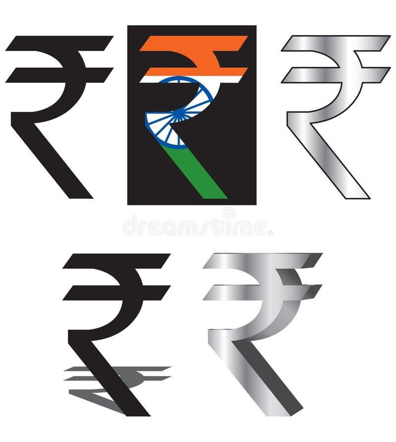 Insignia de la rupia stock de ilustración