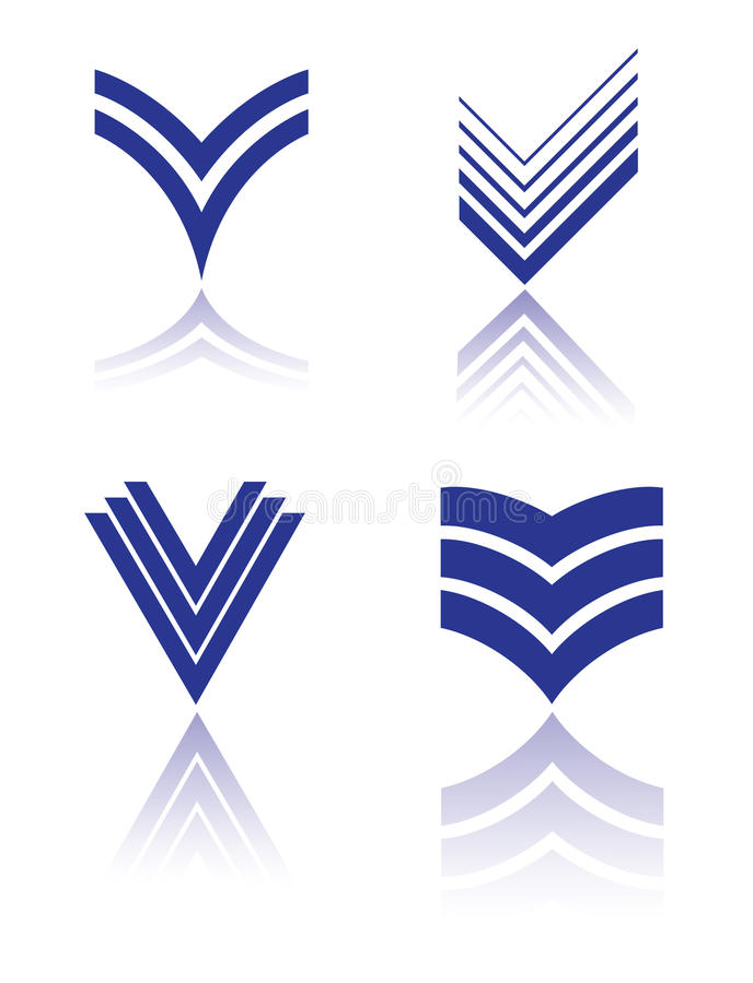 Insignia de la señal stock de ilustración