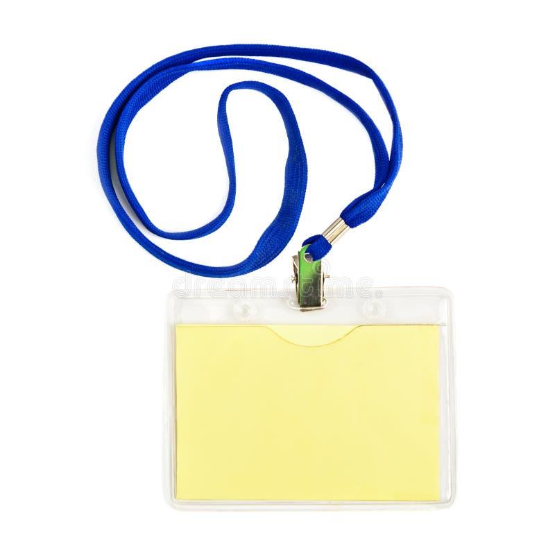 Insignia de la tarjeta de la identificación del nombre imágenes de archivo libres de regalías
