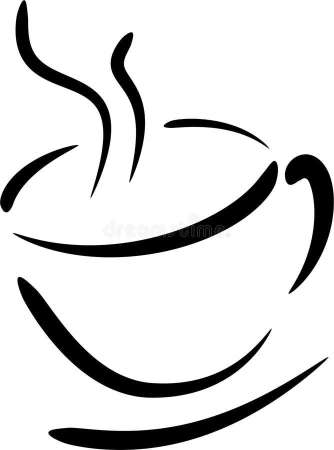 Insignia de la taza de café ilustración del vector
