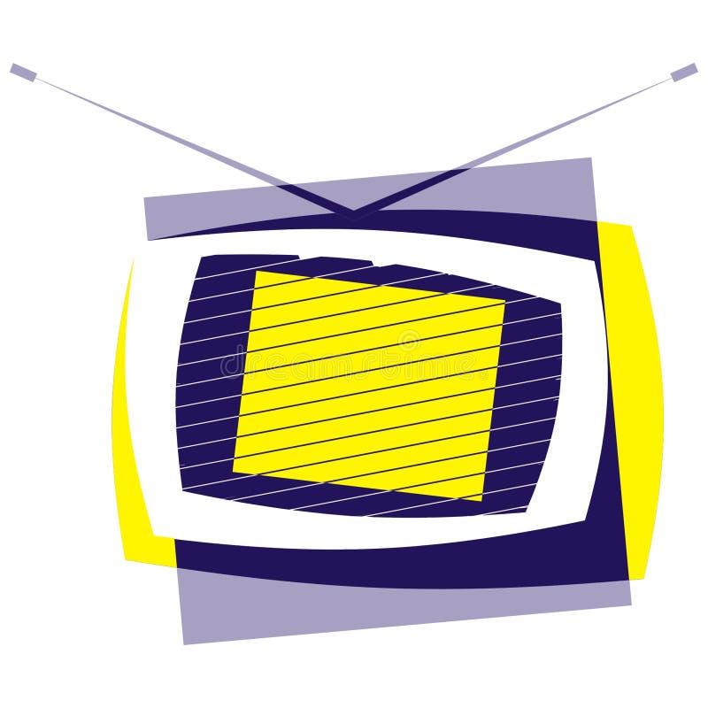 Insignia de la televisión ilustración del vector