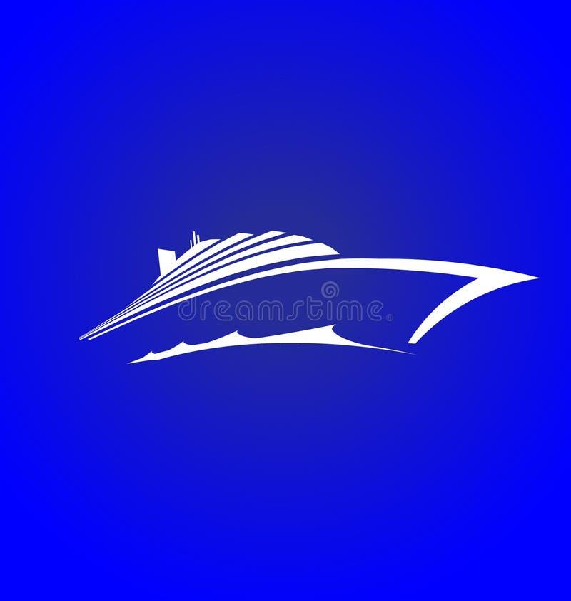 Insignia de la travesía del mar stock de ilustración