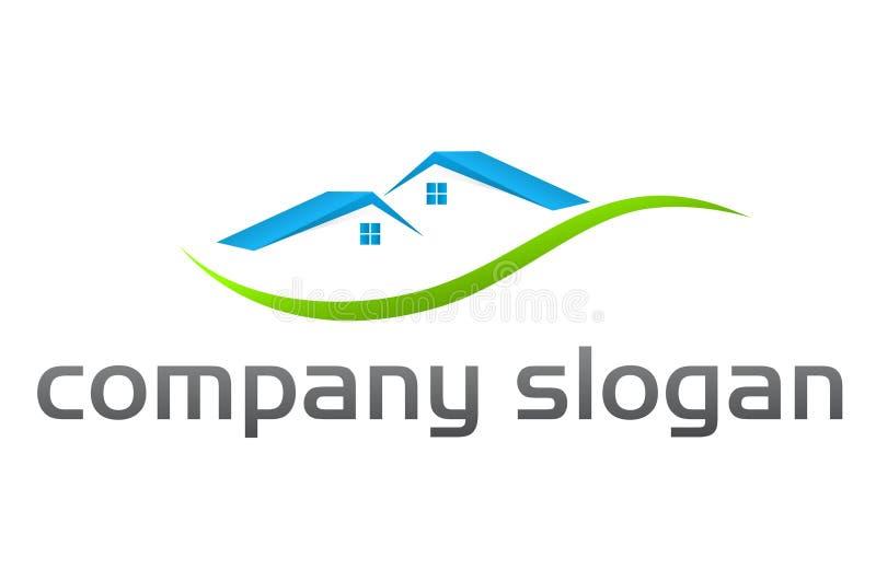 Insignia de las propiedades inmobiliarias stock de ilustración