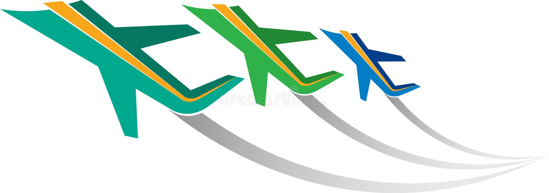 Insignia de los aviones stock de ilustración
