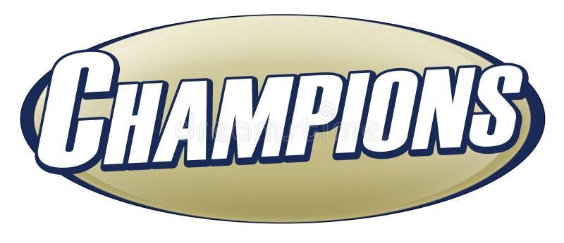 Insignia de los campeones stock de ilustración