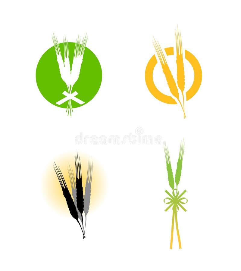 Insignia de los granos del trigo del alimento ilustración del vector