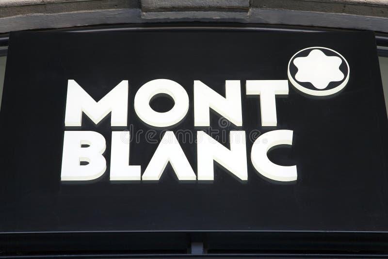 Insignia de Mont Blanc imágenes de archivo libres de regalías