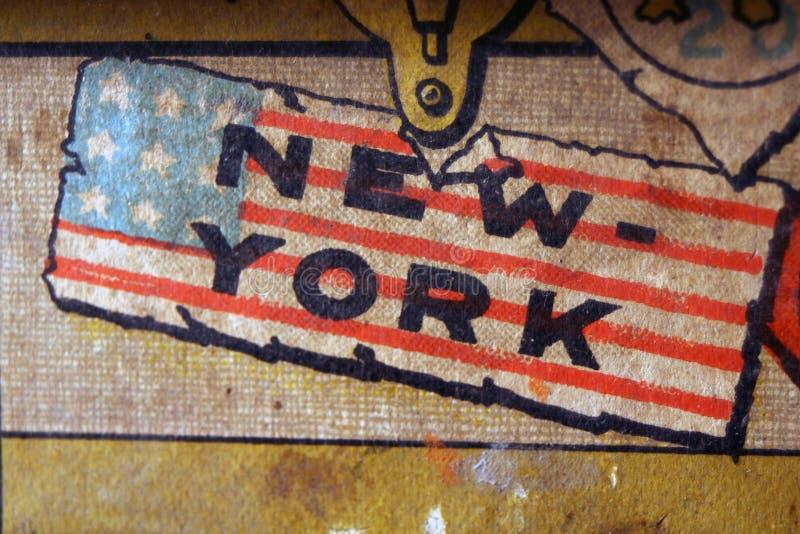 Insignia de Nueva York de la vendimia stock de ilustración
