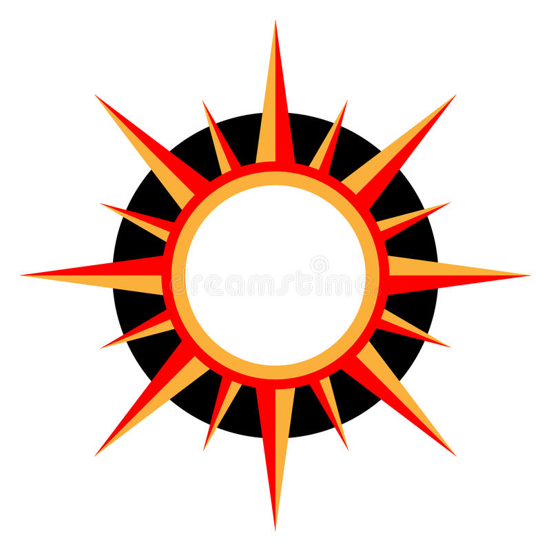 Insignia de Sun stock de ilustración