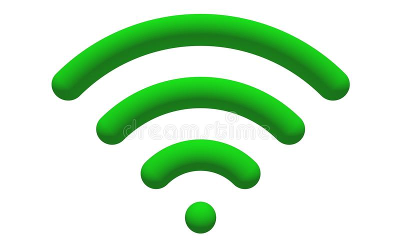 Insignia de WiFi stock de ilustración