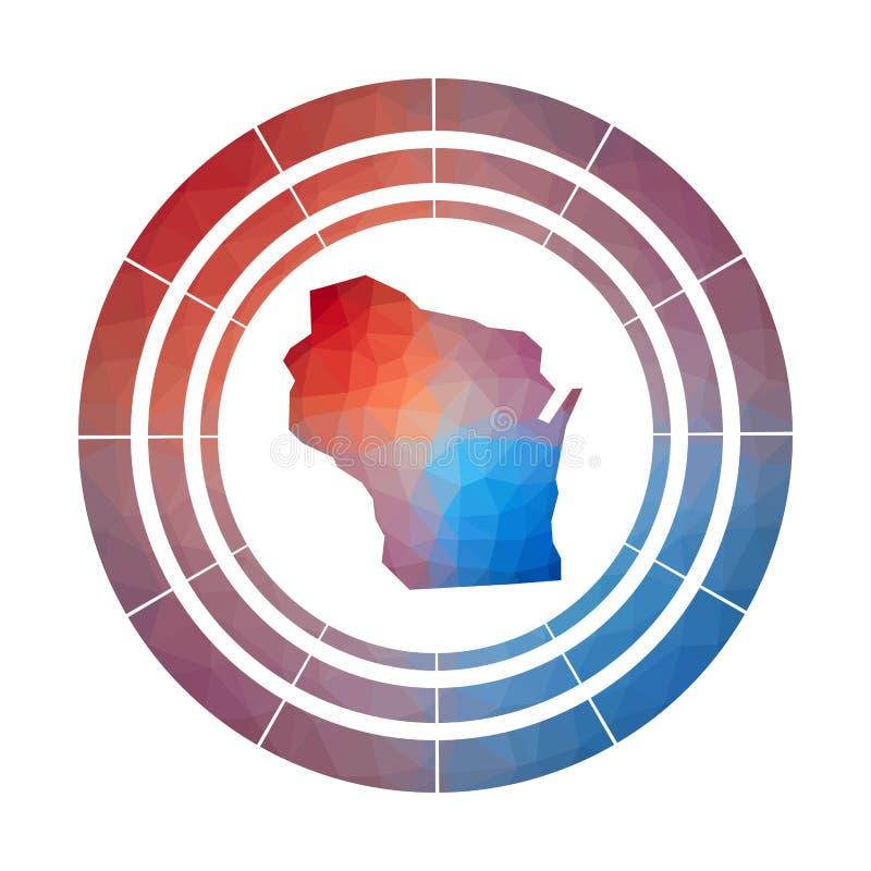Insignia de Wisconsin ilustración del vector
