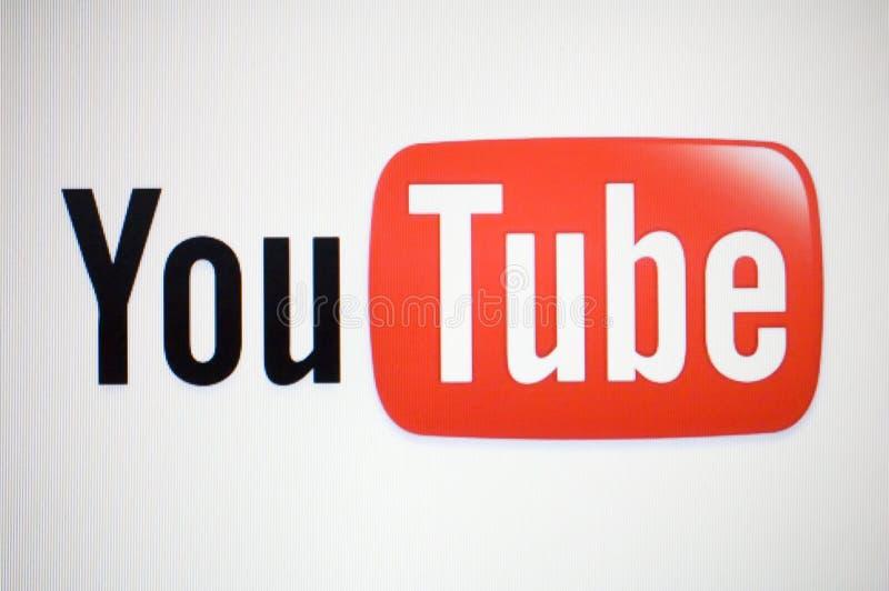 Insignia de Youtube imagen de archivo libre de regalías