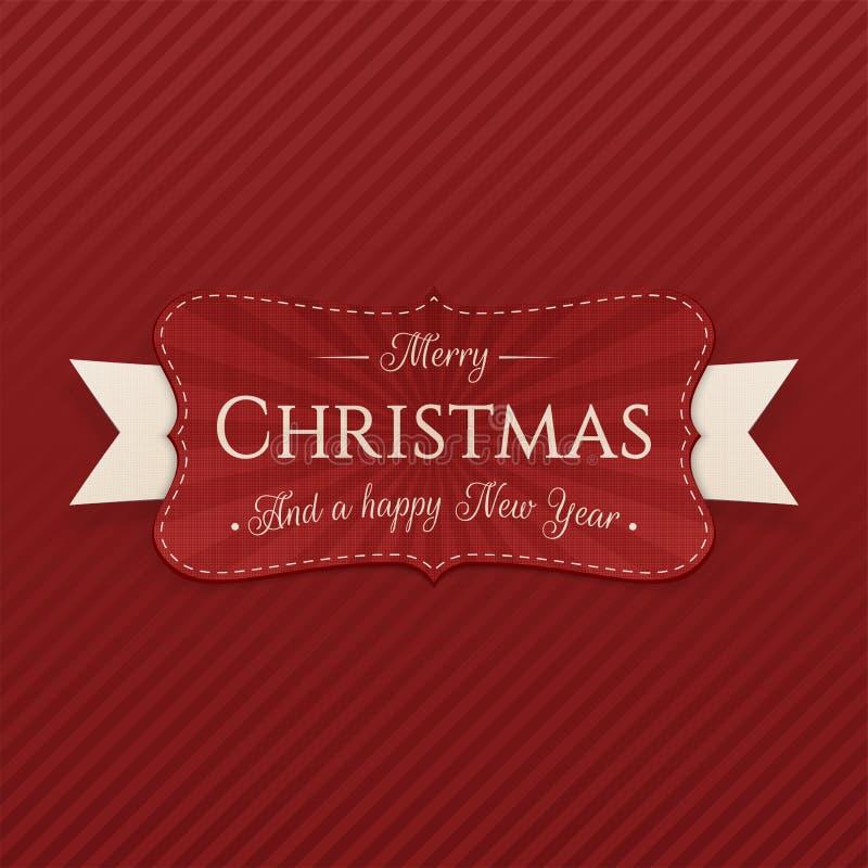 Insignia decorativa de la Feliz Navidad del vector libre illustration