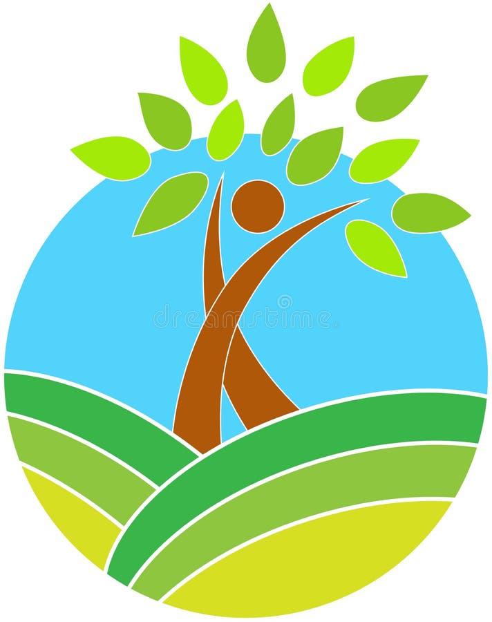 Insignia del árbol stock de ilustración