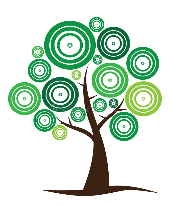 Insignia del árbol del vector libre illustration