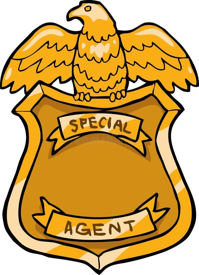 Insignia del agente especial stock de ilustración