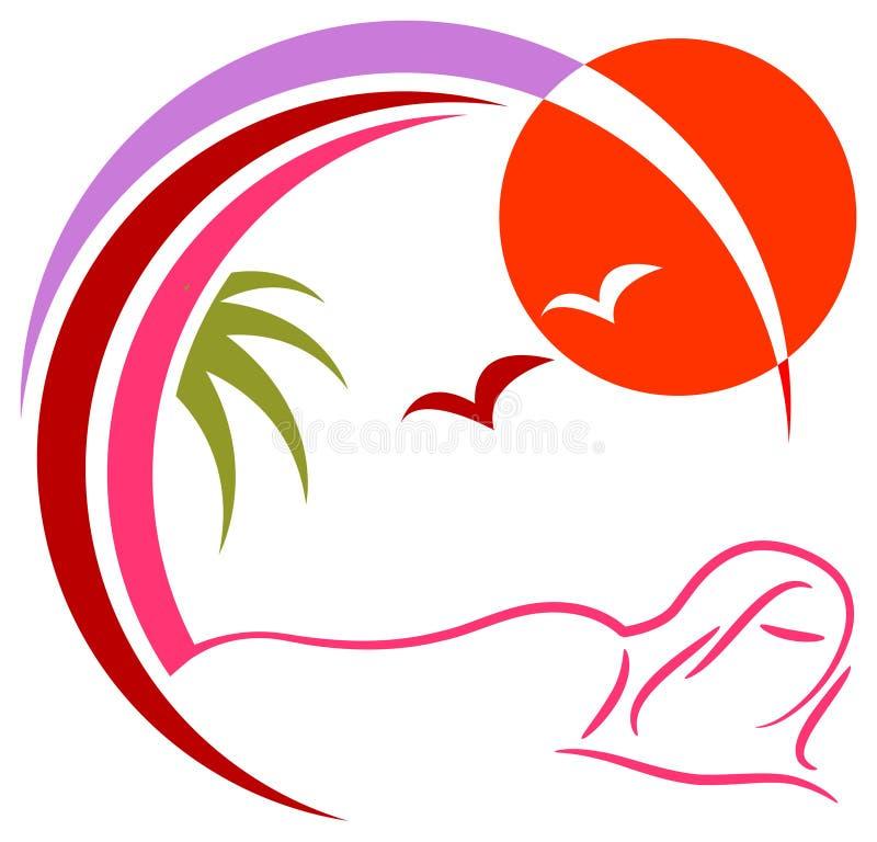 Insignia del balneario libre illustration